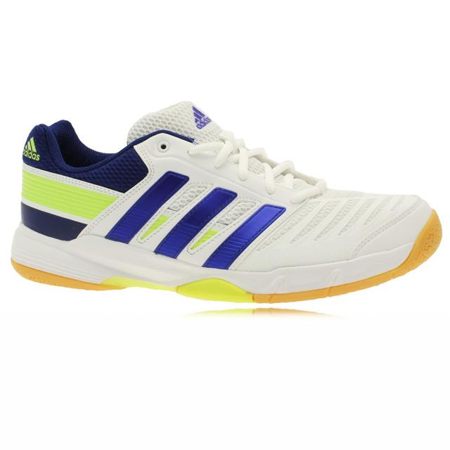 adidas court stabil 10.1 white blue green