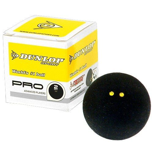 Dunlop Double Yellow Dot Squash Ball